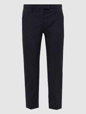 Шерстяные синие укороченные брюки Prada