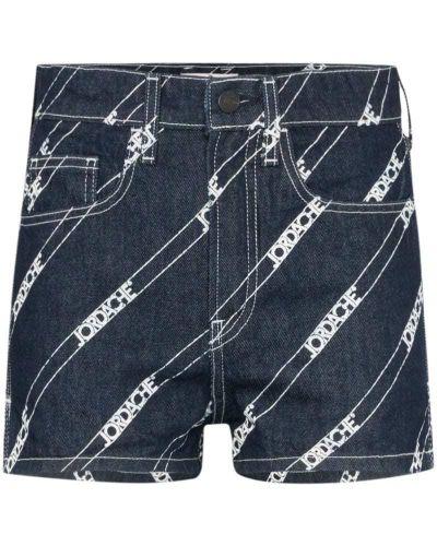 Джинсовые шорты с карманами со стразами на пуговицах Jordache