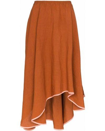 Асимметричная с завышенной талией юбка миди с карманами Araks