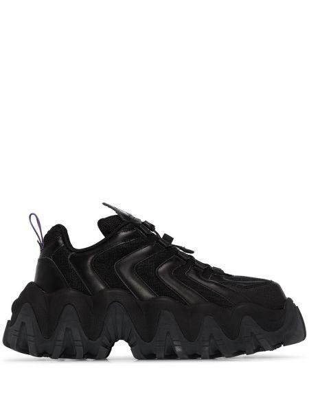 Sneakersy sznurowane czarne Eytys