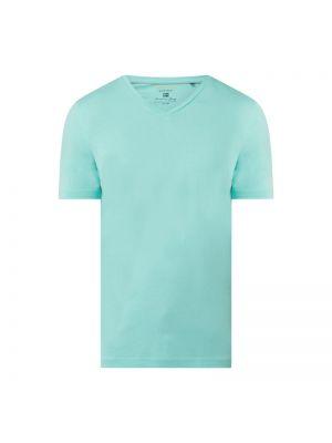 Zielony t-shirt bawełniany z dekoltem w serek Christian Berg Men
