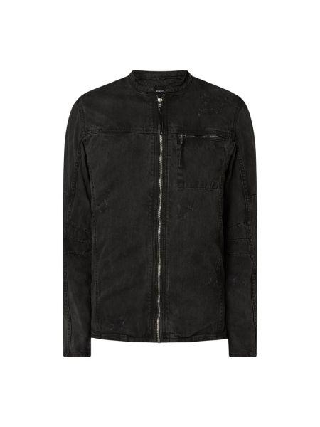 Kurtka jeansowa z printem - czarna Be Edgy