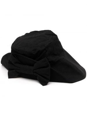 Czarny kapelusz bawełniany Shrimps