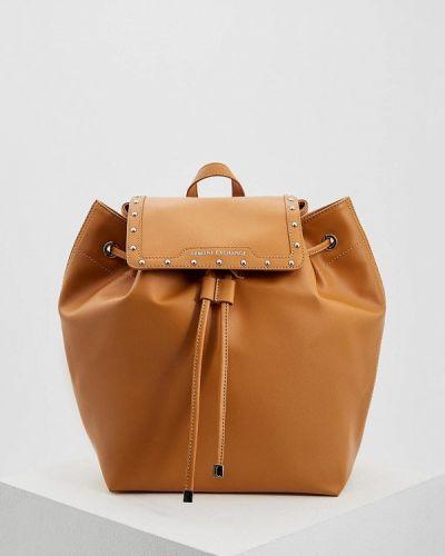 Коричневый рюкзак Armani Exchange