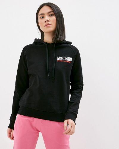 Черная толстовка Moschino Underwear