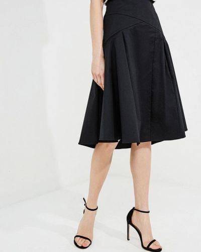 Черная юбка миди Patrizia Pepe