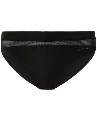 Czarne slipy bezszwowe z nylonu Calvin Klein Underwear