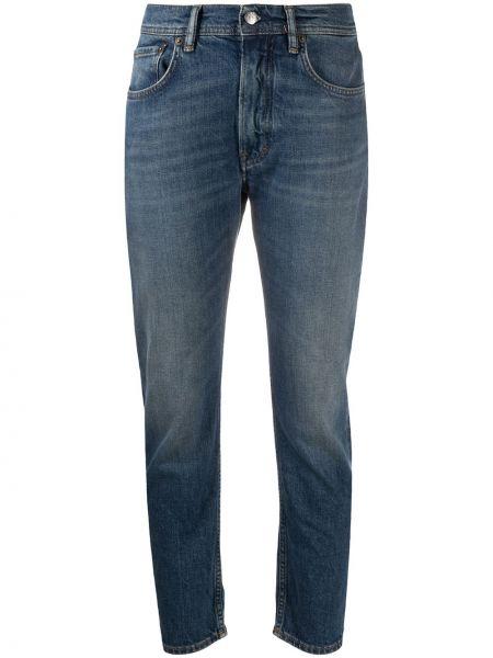 Bawełna bawełna niebieski jeansy do kostek z kieszeniami Acne Studios