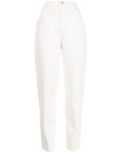 Хлопковые зауженные белые джинсы-скинни Manning Cartell