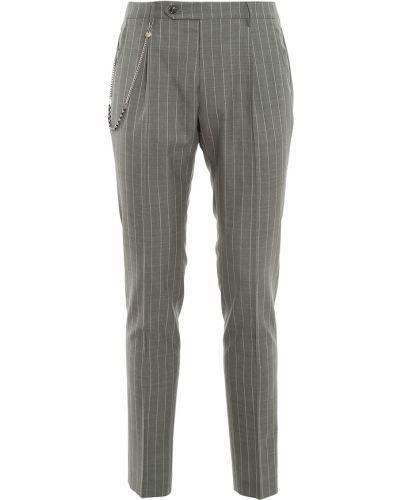 Szare spodnie w paski Berwich