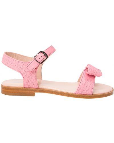 Розовые сандалии с бантом Dior Children