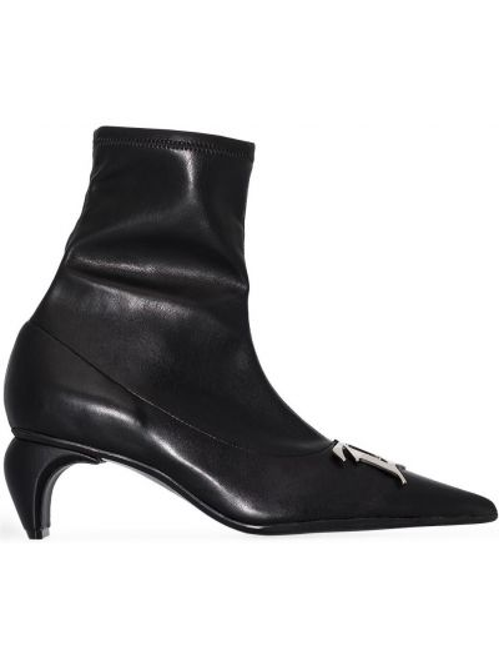 Czarny buty z prawdziwej skóry Misbhv