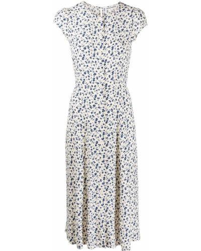 Sukienka mini w kwiaty - biała Reformation