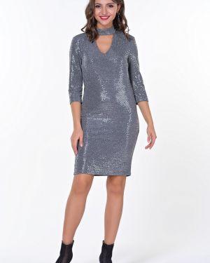 Платье с пайетками на пуговицах Valentina
