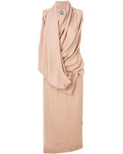 Бежевое платье с поясом Vivienne Westwood