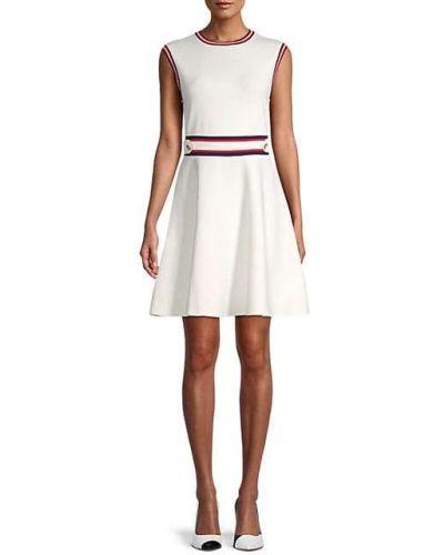 Расклешенное свободное бежевое платье Ted Baker