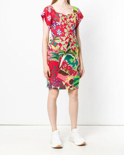 Приталенная льняная юбка мини винтажная в рубчик Christian Lacroix Pre-owned