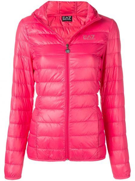 Розовая куртка с капюшоном Ea7 Emporio Armani