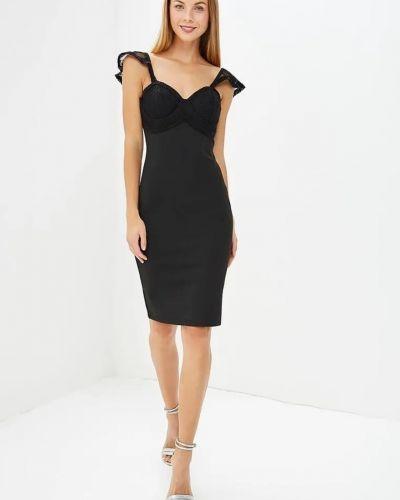 Черное платье на бретелях Lost Ink.