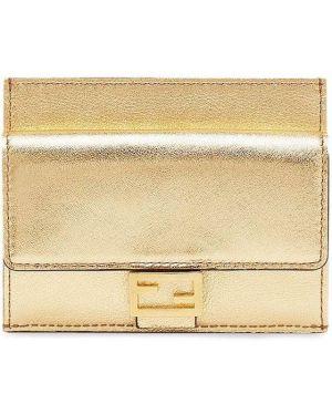 Желтый кошелек Fendi