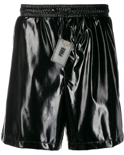 Черные шорты с поясом Wwwm