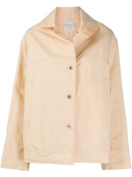 Хлопковая свободная короткая куртка свободного кроя Forte Forte