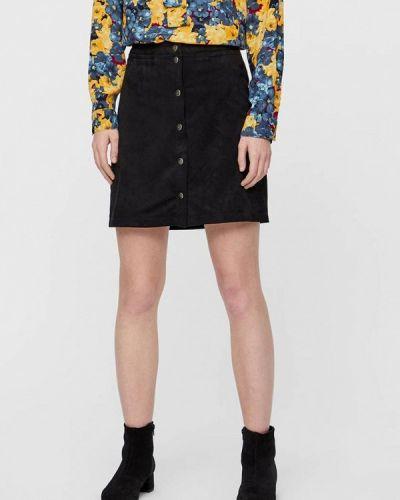 Кожаная юбка черная Noisy May