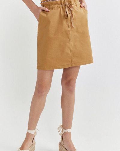 Бежевая прямая юбка карандаш Springfield