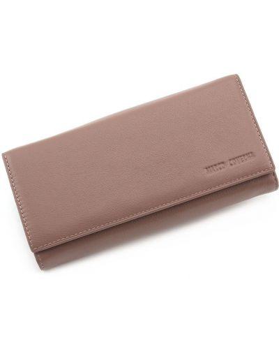 Кожаный кошелек - розовый Marco Coverna