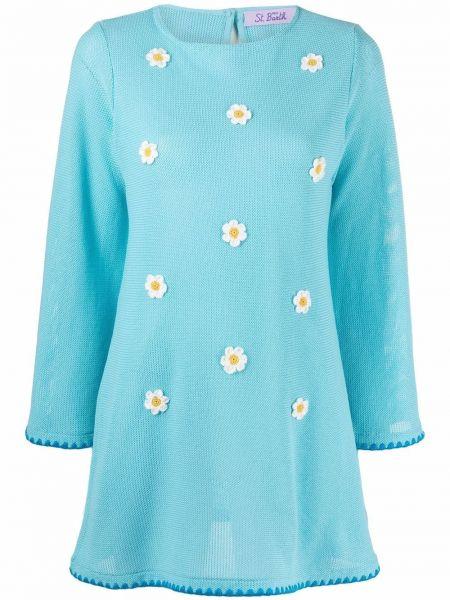 Синее хлопковое платье Mc2 Saint Barth
