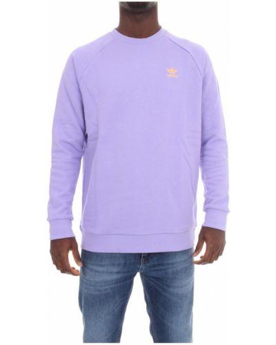 Prążkowany fioletowy długi sweter z długimi rękawami Adidas Originals