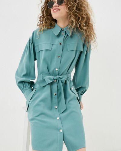 Бирюзовое платье-рубашка Imperial