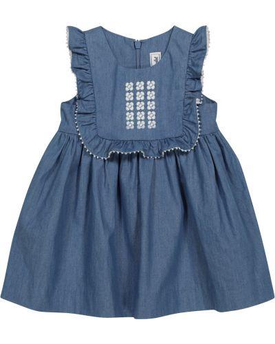 Платье из штапеля - синее Tartine Et Chocolat