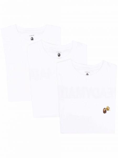Biały t-shirt z printem krótki rękaw Readymade