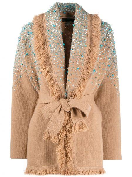 Кашемировое пальто с мехом Alanui