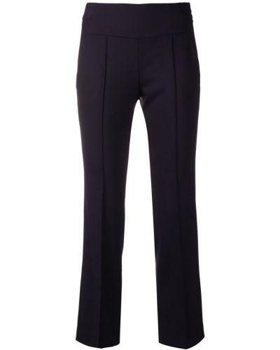 Укороченные брюки с карманами синие Incotex