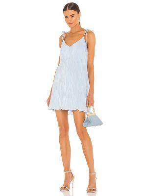 Niebieska satynowa sukienka Dannijo