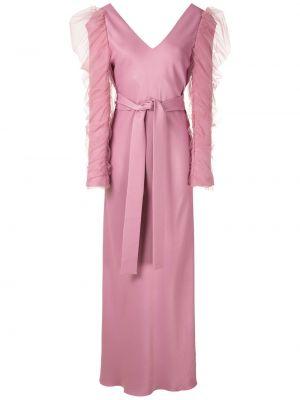 Платье макси длинное - розовое Gloria Coelho
