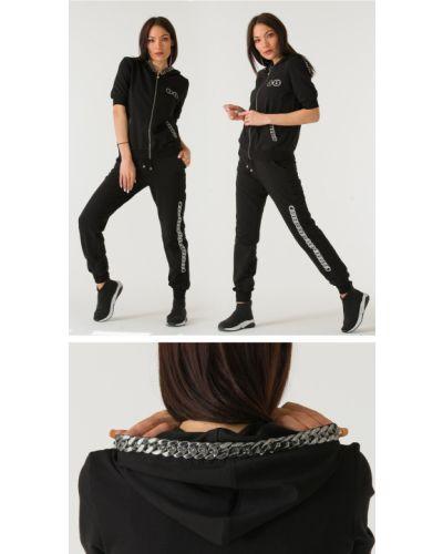 Спортивный костюм с капюшоном - черный Sogo