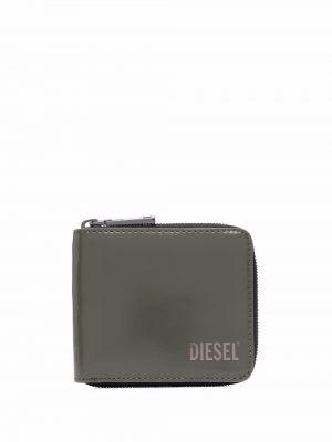 Portfel skórzany - zielony Diesel