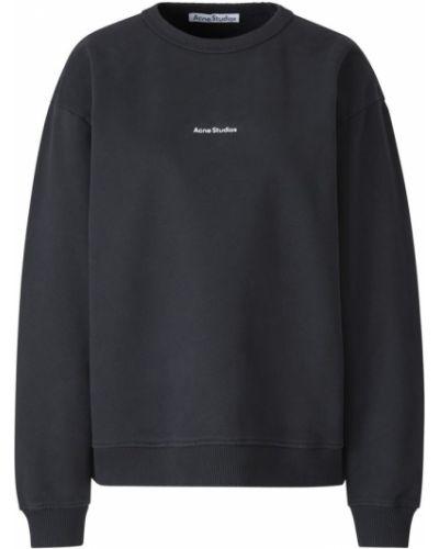 Czarna bluza bawełniana oversize Acne Studios