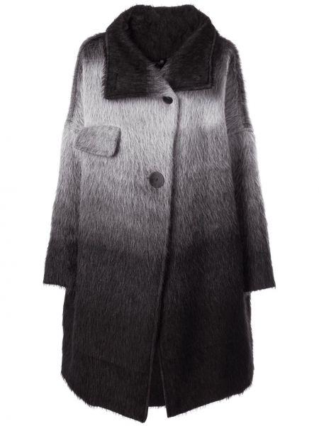 Шерстяное серое пальто с воротником на пуговицах Taylor