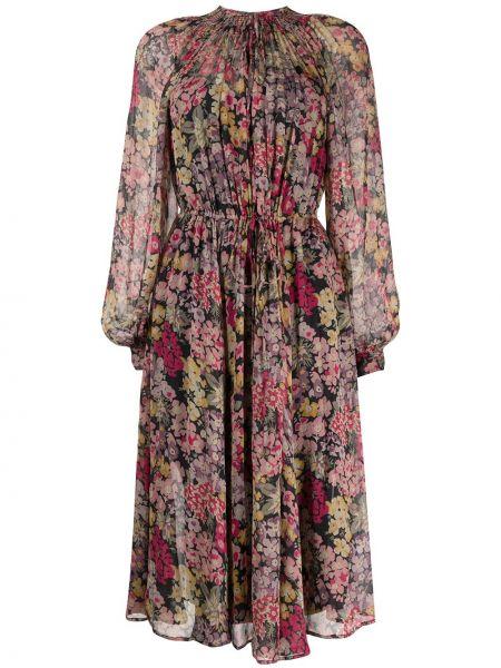 Платье миди в цветочный принт Polo Ralph Lauren