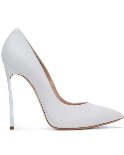 Белые кожаные туфли-лодочки Casadei