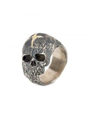 Pierścień z ozdobnym wykończeniem srebro Tobias Wistisen