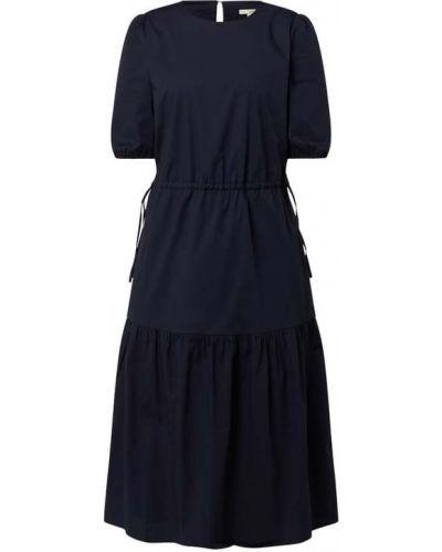 Niebieska sukienka midi rozkloszowana z falbanami Edc By Esprit