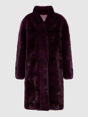 Пальто с мехом - красное Florence Mode