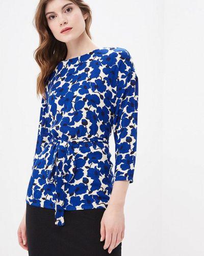 Блузка с длинным рукавом осенняя синяя Burlo