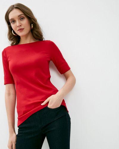Красная футболка с короткими рукавами Lauren Ralph Lauren