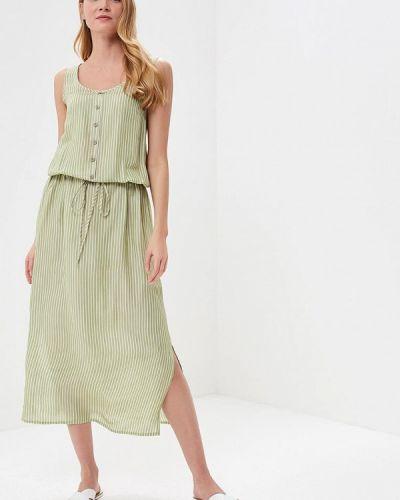 Зеленое платье льняное Gregory